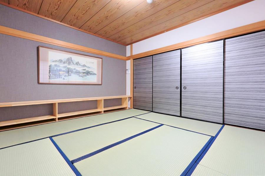 日本情緒溢れる和室は外国籍の方からも好評。お布団セットもご用意しております
