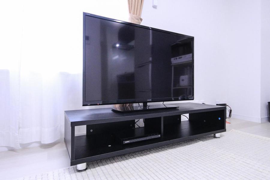 テレビは大画面40インチ。映画鑑賞やゲームにも最適な大きさです