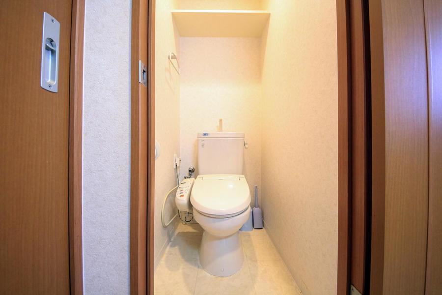 清潔感あるトイレには人気のウォシュレットを完備しています