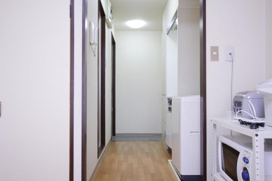 お部屋と廊下の間にはドアがないためすっきりとした印象