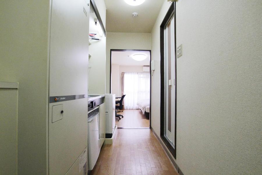 廊下の想定もお部屋と同じ色合いでまとめられ統一感があります