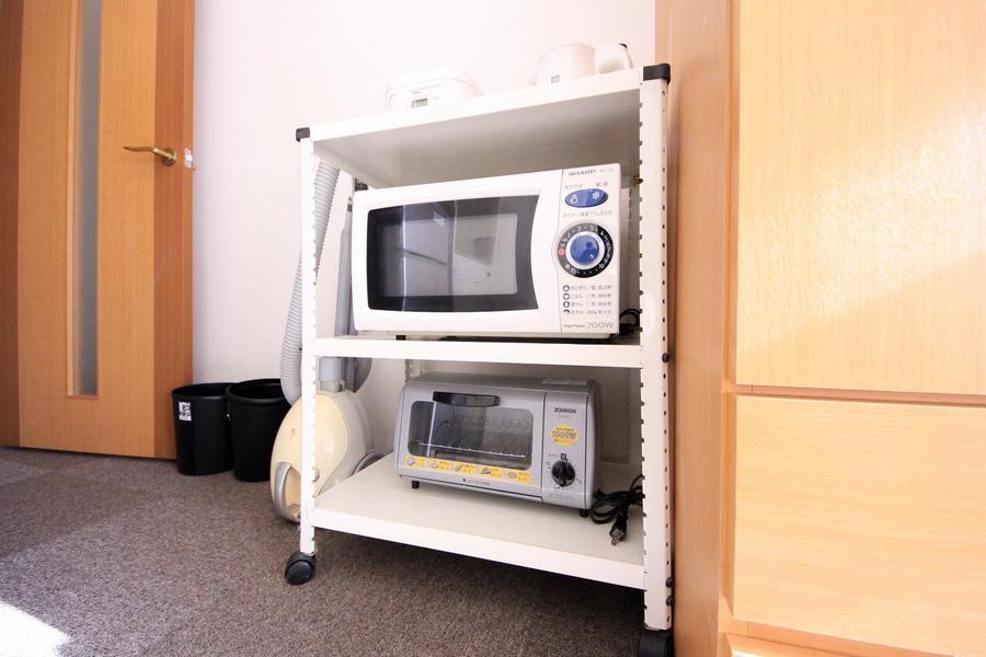 炊飯器や電子レンジなどの家電類は使いやすく一箇所に集約