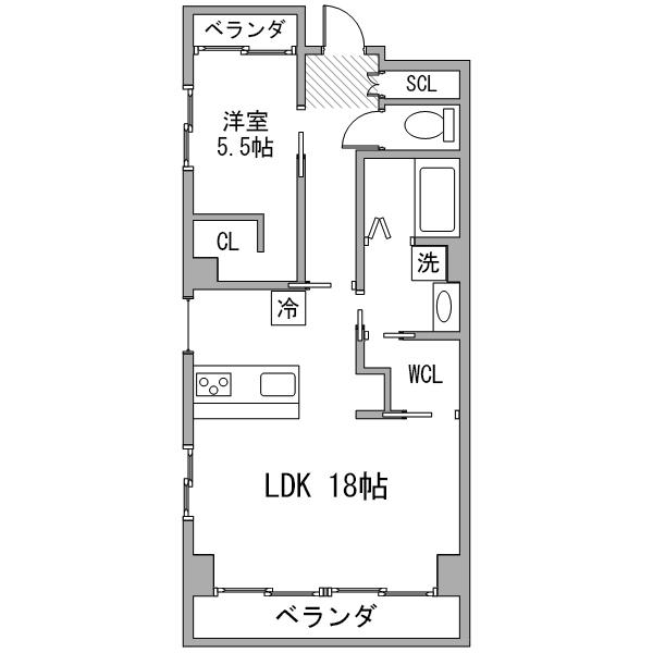 【30室限定ポッキリ割】ルーレント金山16-2の間取り