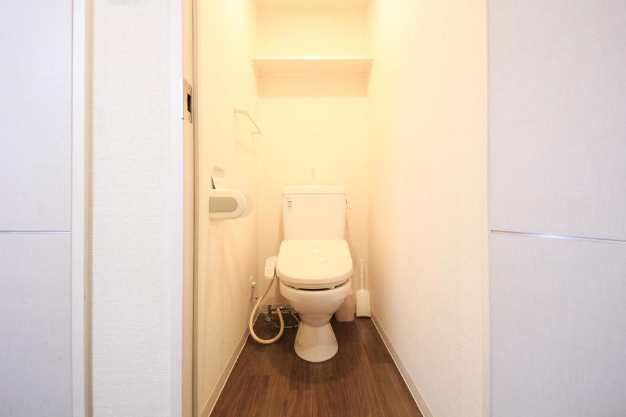 衛生面が気になるトイレもセパレートタイプで安心!