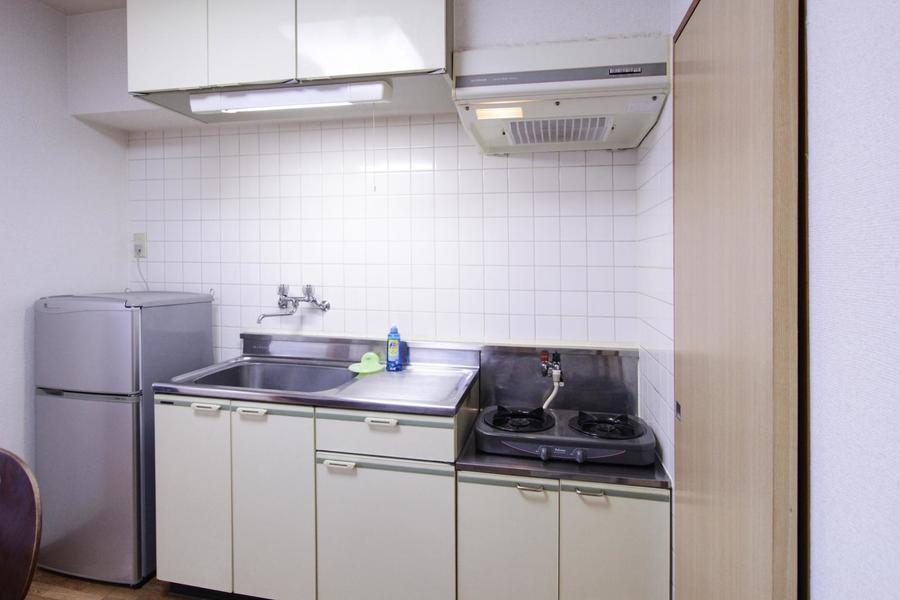 マンスリーとは思えない広めのキッチン。お料理もバッチリ!