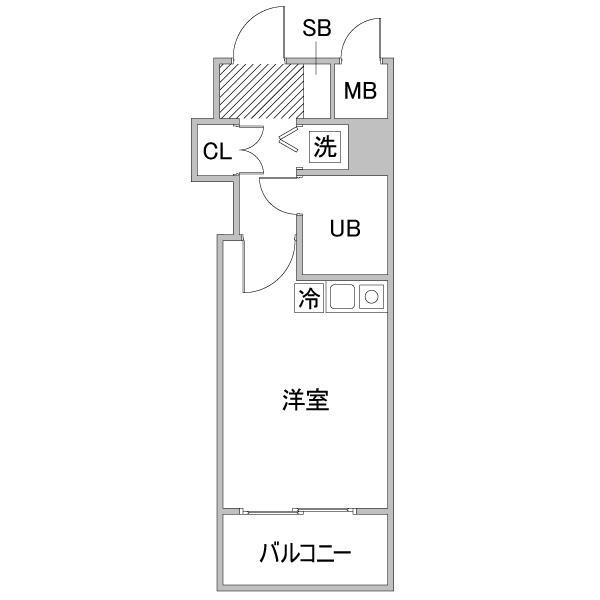 【チョウキ割】クラステイ栄南-1の間取り