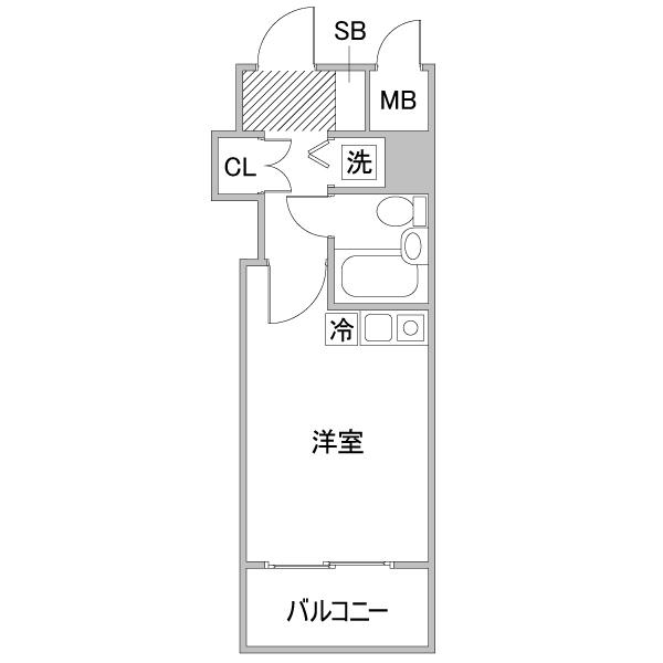 クラステイ栄南m-1【ロフトベッド】の間取り
