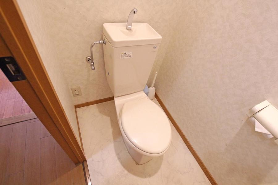 お手洗いはセパレートタイプで衛生面も安心です