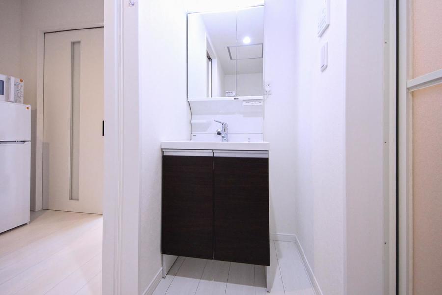 毎朝の身だしなみに欠かせない洗面台。シャンプードレッサータイプです