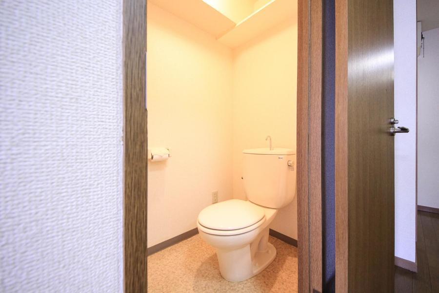 お手洗いはセパレートタイプで衛生面も安心。