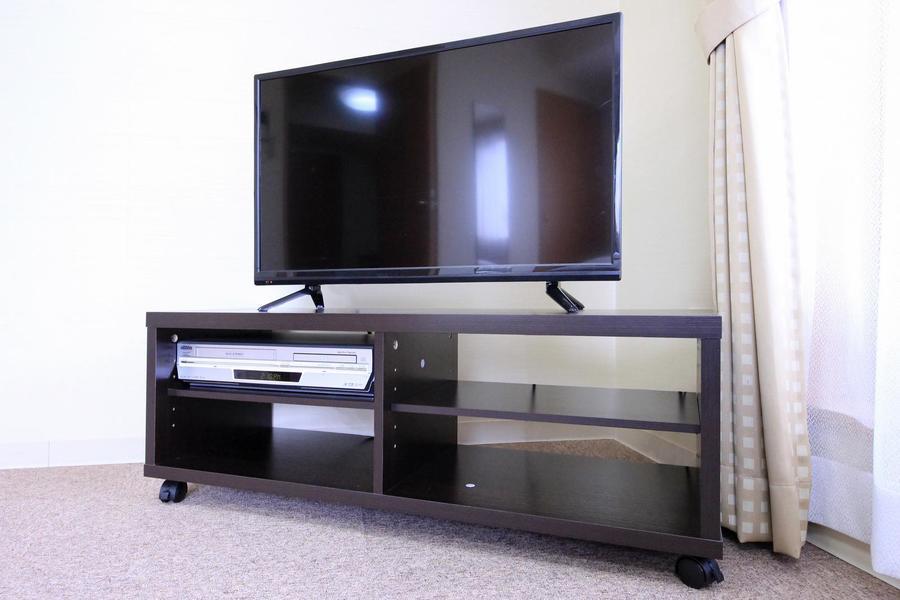 テレビは大型の32インチ。映画鑑賞やゲームにも最適な大きさです