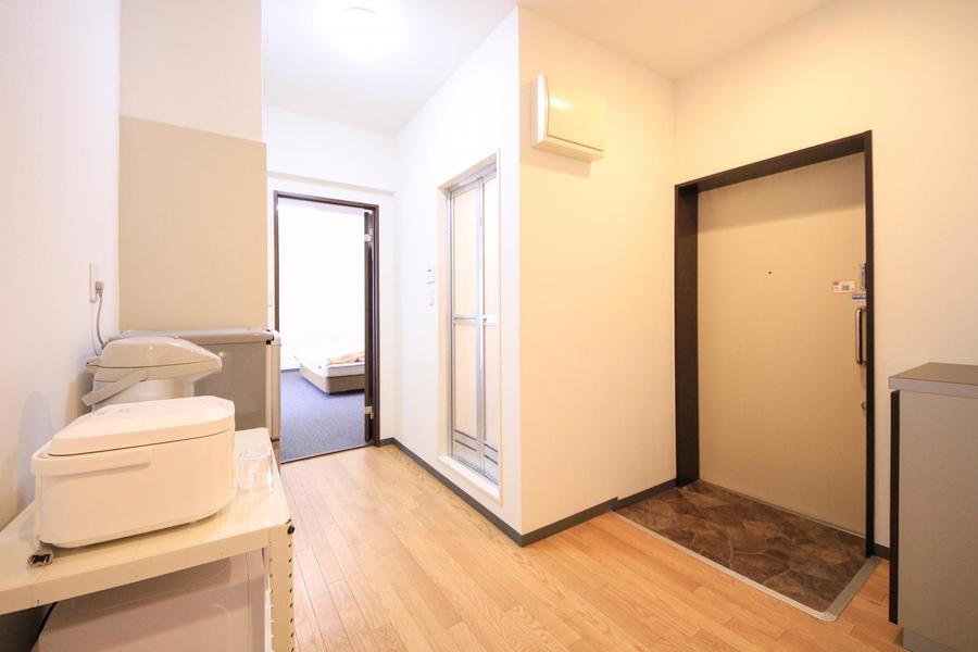 玄関周りは広めに取られており移動もスムーズ