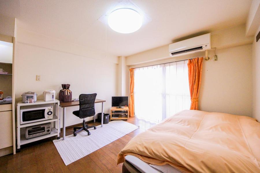 家具家電を置いてもゆとりある7帖のお部屋です