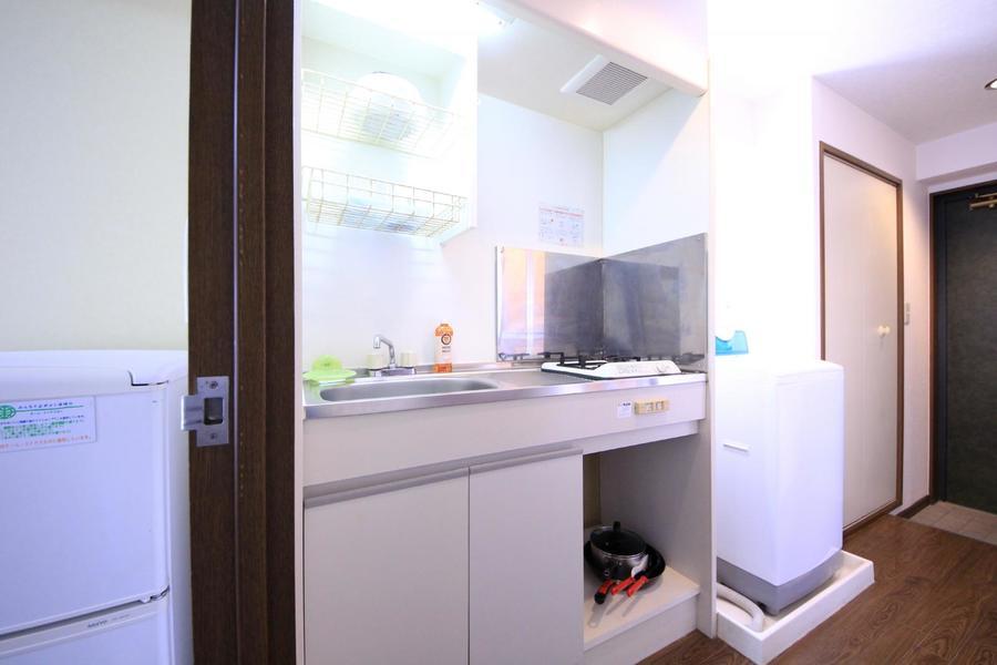 キッチン前のスペースもしっかり確保されています