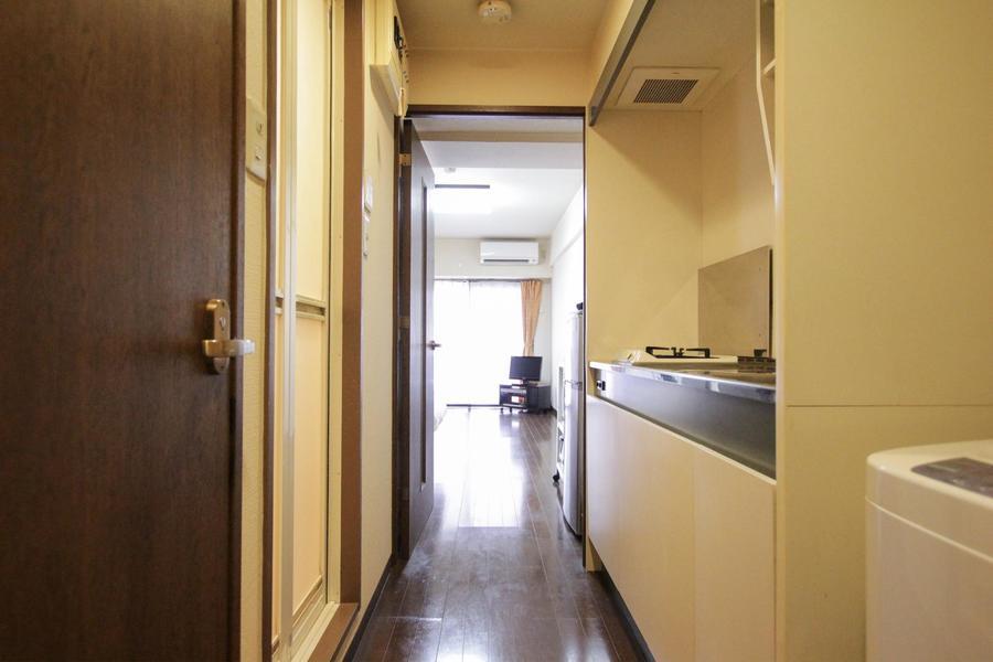 廊下とお部屋の間は段差のないフルフラットなつくり