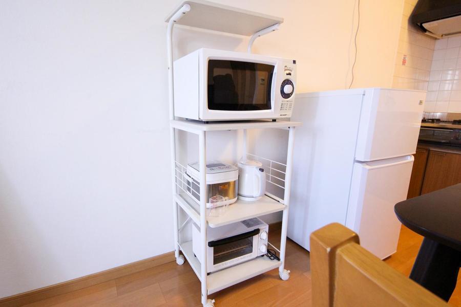 冷蔵庫をはじめ電子レンジ、炊飯器など各種キッチン家電もご用意しています