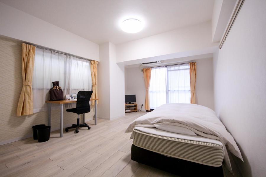 2面採光で光が入り込む明るいお部屋