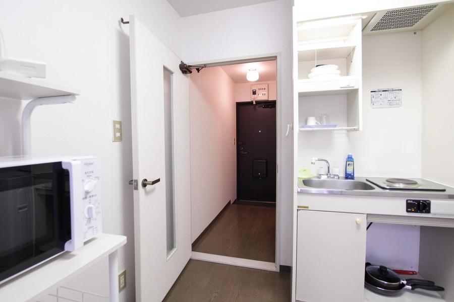 各部屋には扉を設置。プライベート空間の確保にお役立て下さい