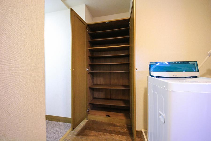 玄関先にはシューズボックス完備で散らかる心配はありません