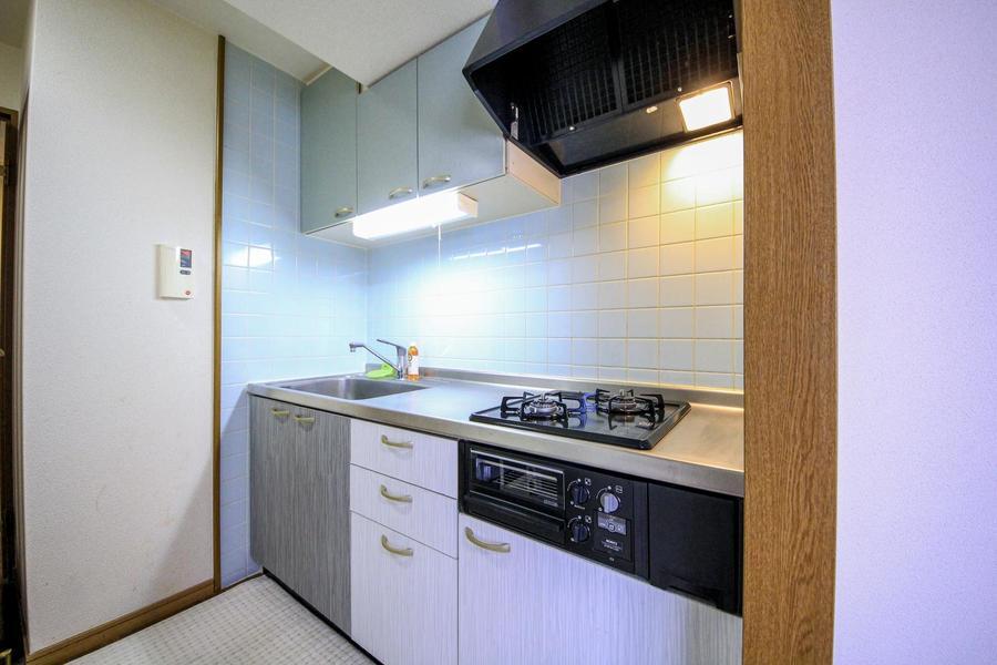 作業スペースもシンクも広く自炊派にうれしいキッチン