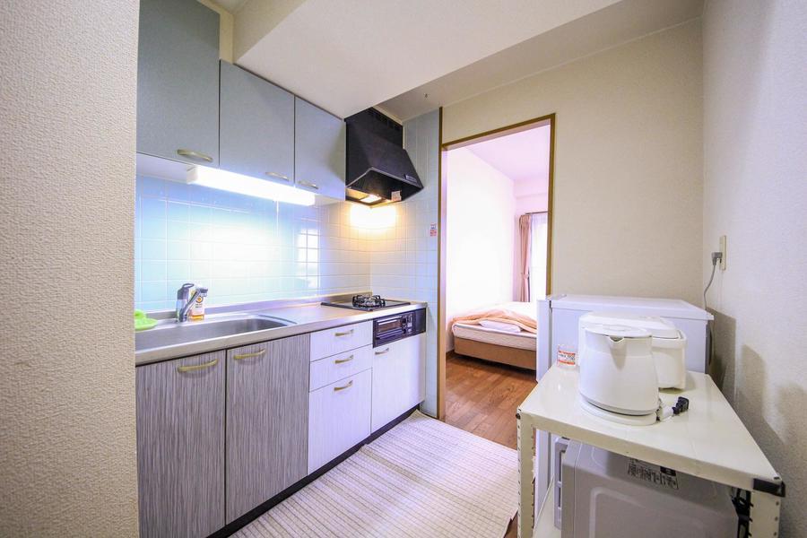 キッチンは余裕を持って動けるスペースが確保されています