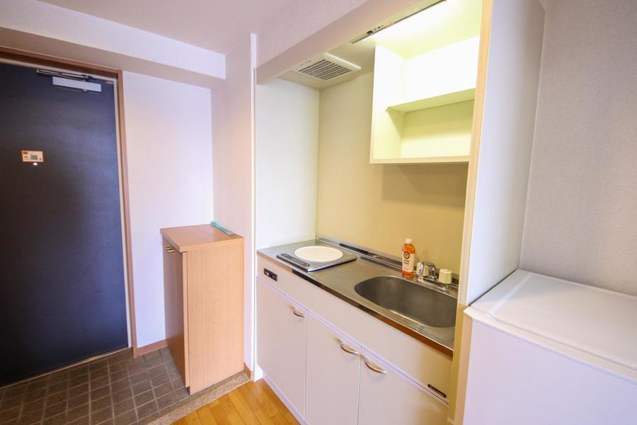 キッチン周りは広めにスペースが取られており、お料理もらくちん