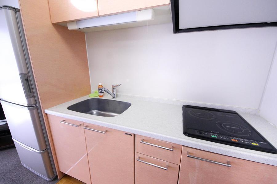 キッチンスペースはたっぷりの広さを確保。お料理もはかどります