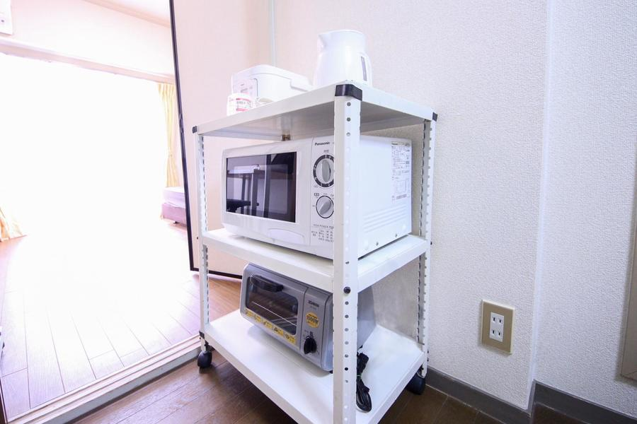 炊飯器や電子レンジなどのキッチン家電もご用意しています