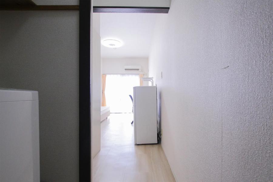 お部屋と玄関の間は段差がなく、足元も安心です