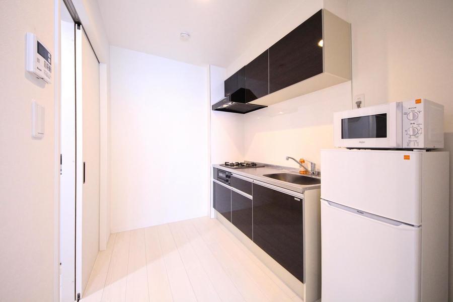 キッチンまわりはたっぷりとゆとりある広さ