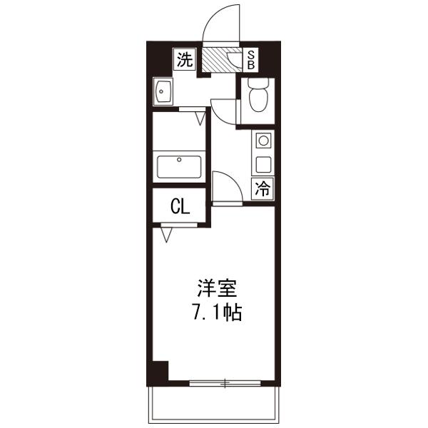 【30室限定ポッキリ割】クラステイ名古屋駅3の間取り