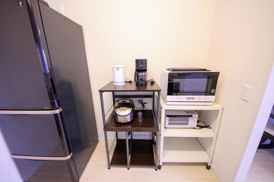冷蔵庫をはじめとした家電類もすべてご用意しています