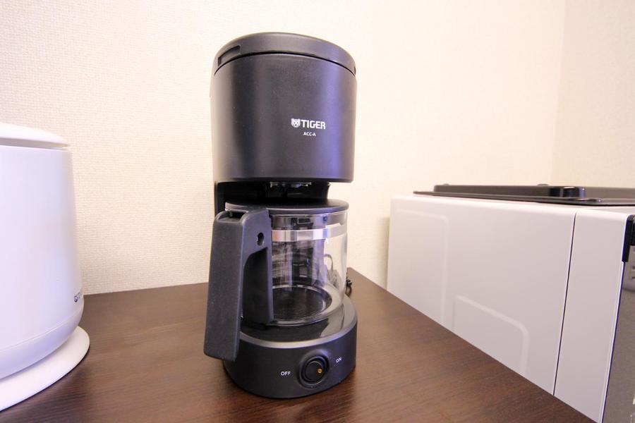 オプション品として人気のコーヒーメーカーも標準でご用意