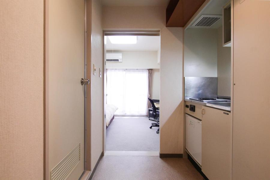 お部屋と廊下の間には段差がなく、移動もスムーズ