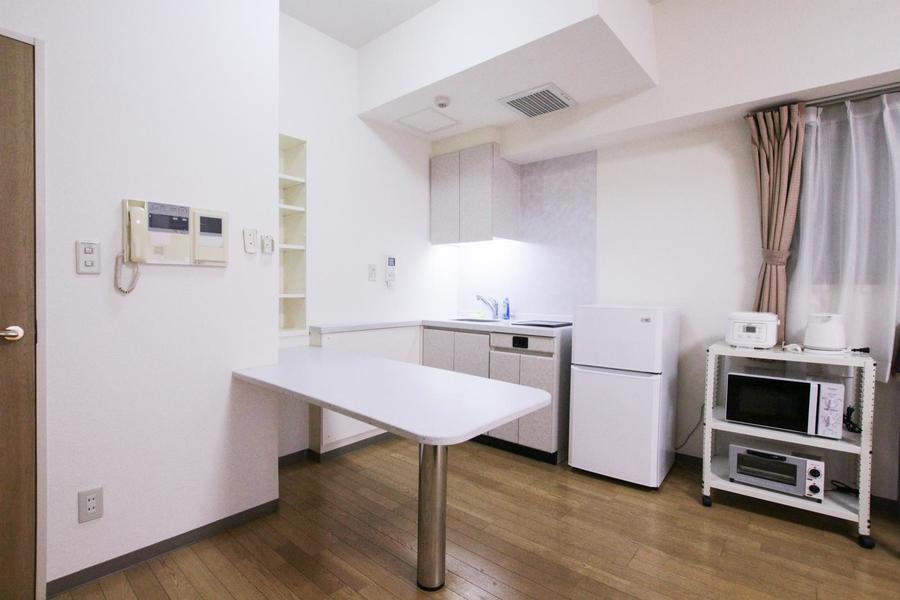 1Rでは珍しいカウンター付きのオープンキッチン