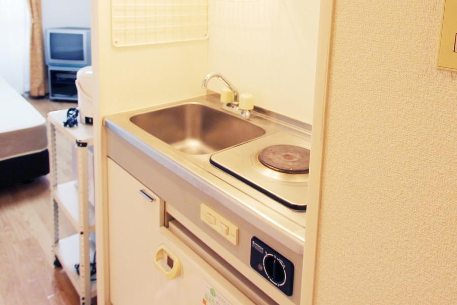 キッチンは使いやすくコンパクトに