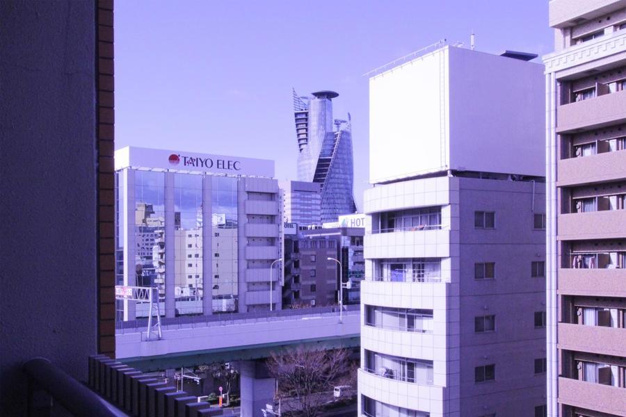 ベランダからは名古屋駅方面が一望できます