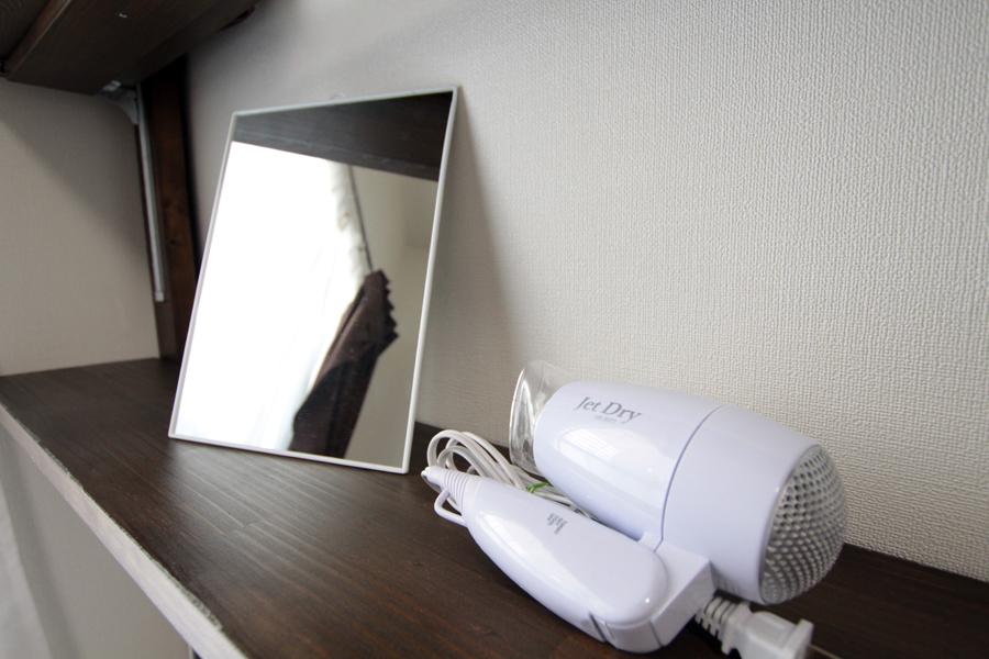 従来品よりも大きな鏡をご用意しております