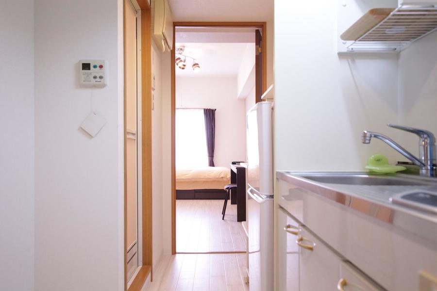 室内だけでなくキッチン周辺も洗練された雰囲気
