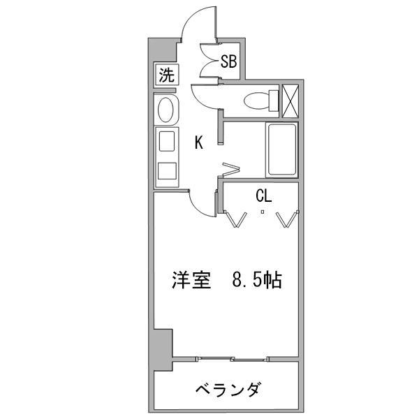 クラステイ名古屋駅5の間取り
