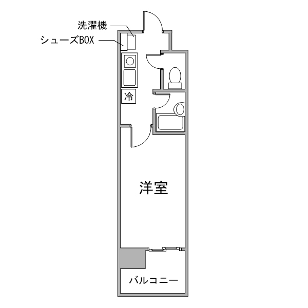 【チョウキ割】クラシエ名駅南-1の間取り