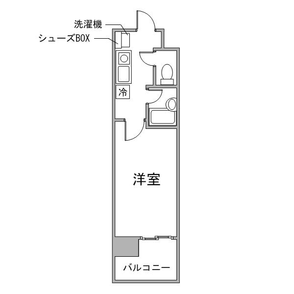 【チョウキ割】クラシエ名駅南-2の間取り