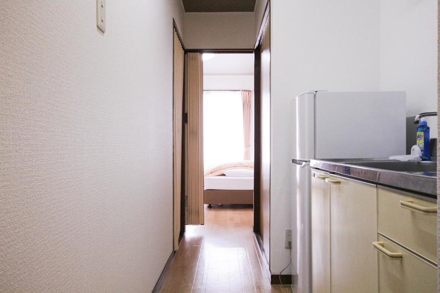 お部屋と廊下の間は段差がないつくり。足元の不安もありません
