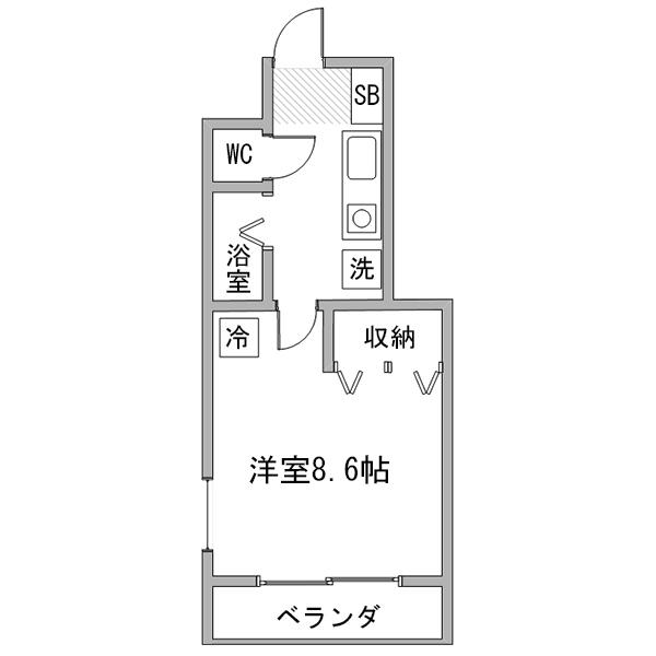 【タンキ割】ルーレント春日井5-2の間取り