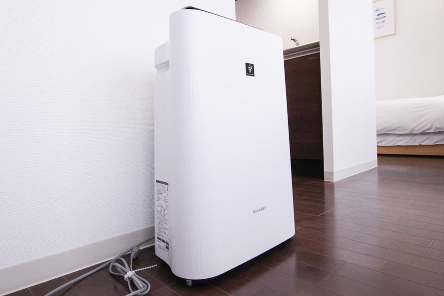 オプション貸出品として人気の空気清浄機を標準装備
