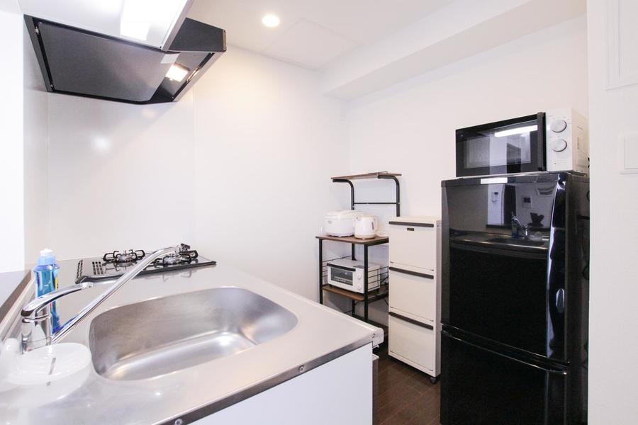 キッチンは手狭さを感じさせないゆとりある広さ