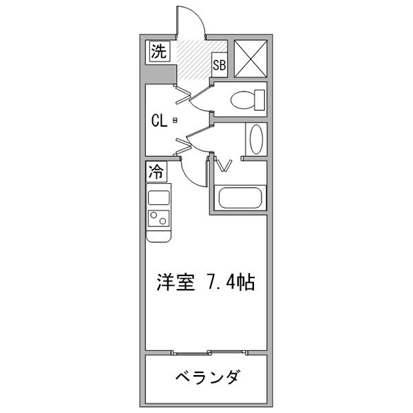 【チョウキ割】クラステイ名古屋城西-2の間取り