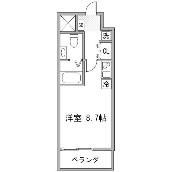 クラステイ名古屋城西-3の間取り