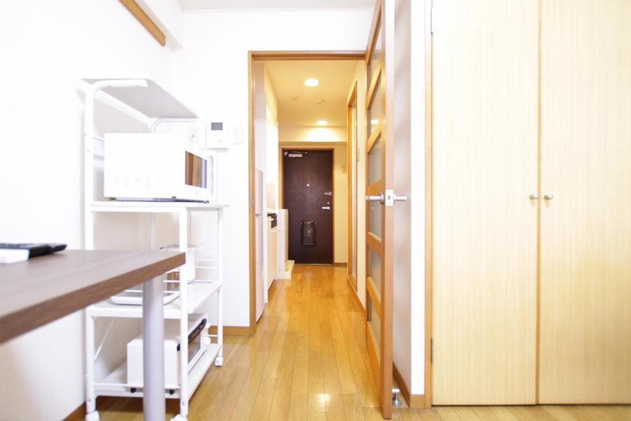 お部屋と廊下のフローリングをひとつにすることで統一感が生まれます