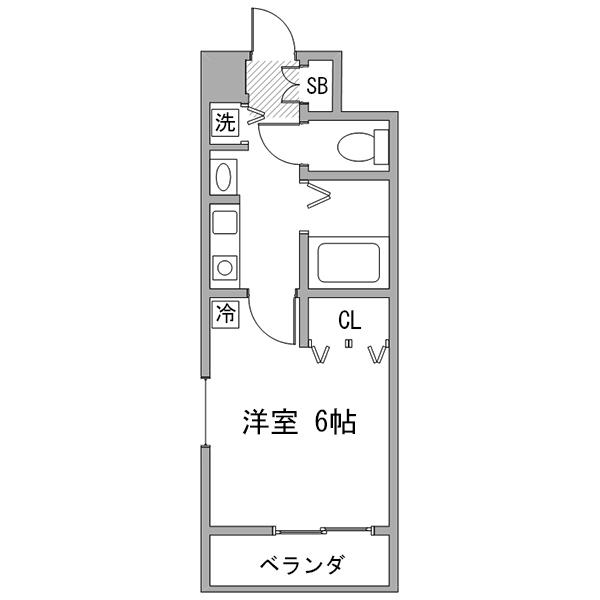クラステイ名古屋駅4-1の間取り